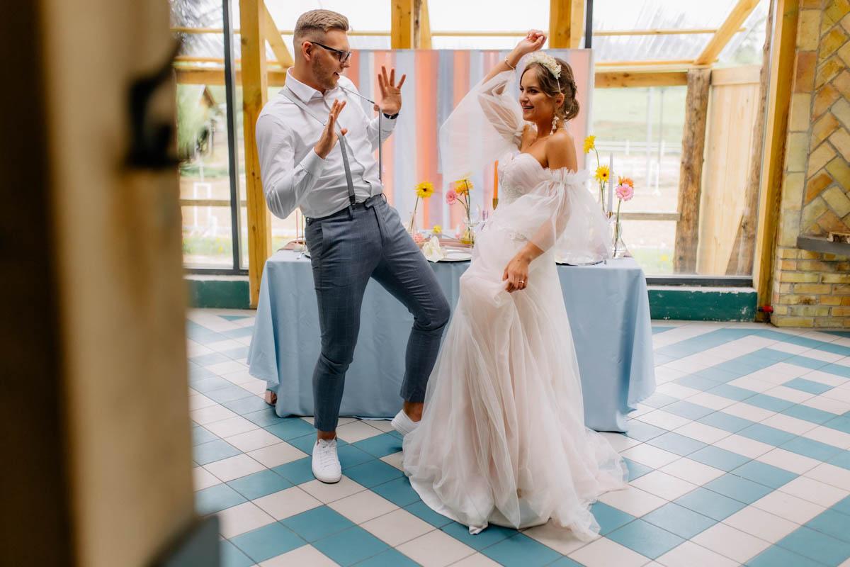 pastelowy ślubb