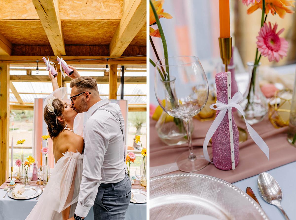 pastelowy ślub